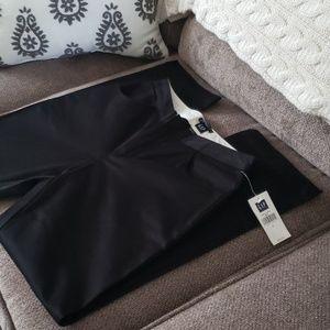 GAP black stretch cotton bootcut dress pants